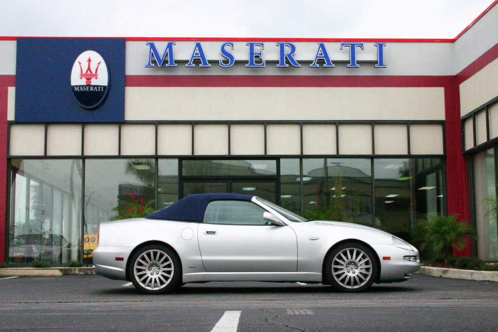 2002 Maserati Spyder outside Maserati of Central Florida.